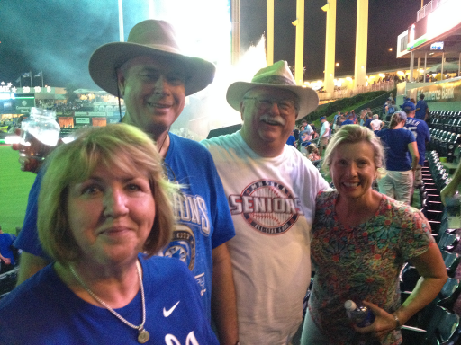 MSNT Executive Director Kathy Birkes with MoNAELA Chapter Executive Diana Love, MoNAELA member Keith Brunstrom and VP and Senior Trust Officer at Blue Ridge Bank and Trust Co. Joe Flick enjoying a Royals win after the MoNAELA 2016 Summer Program: The Basics of Elder Law on June 17.